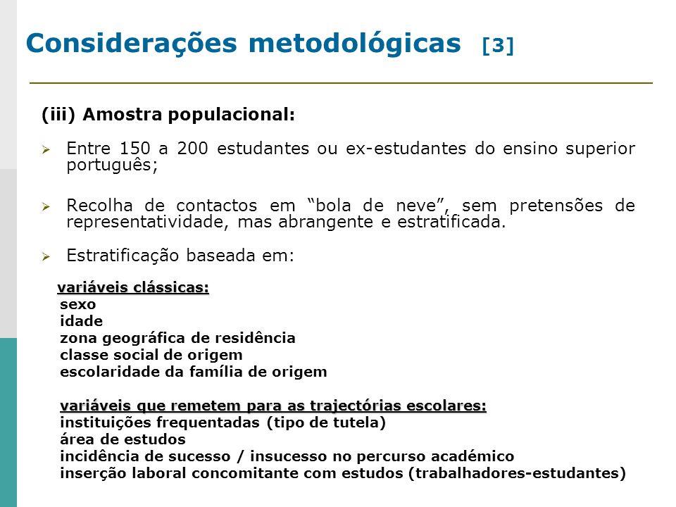 Considerações metodológicas [3]